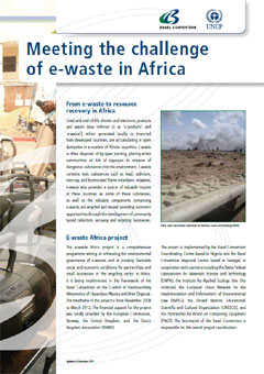 Meeting the challenge of e-waste in Africa