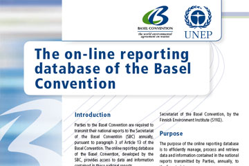 The on-line reporting database of the Basel Convention