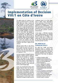 Implementation of decision VIII/1 on Côte d'Ivoire